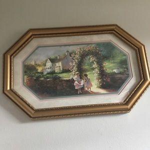 ✨Vintage Eleanor Polen Girls&Garden 80s Framed